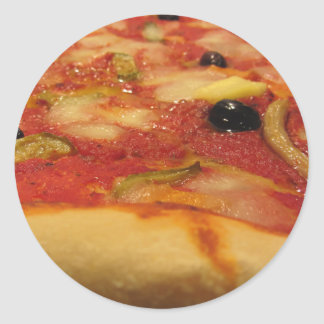 Original italian pizza classic round sticker