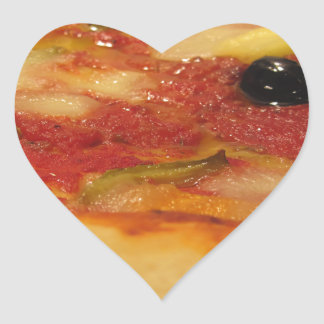 Original italian pizza heart sticker