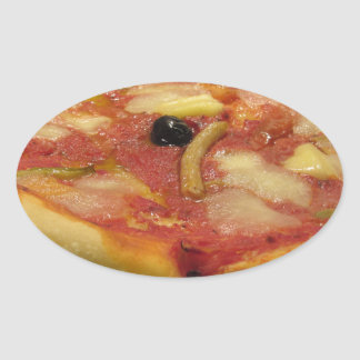 Original italian pizza oval sticker