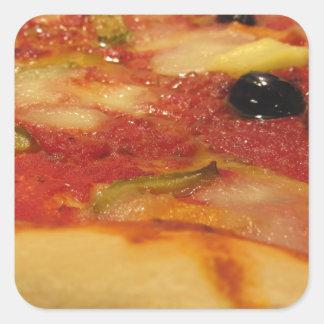 Original italian pizza square sticker