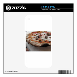 Original italian pizza with capers and anchovies decals for the iPhone 4