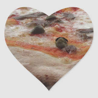 Original italian pizza with capers and anchovies heart sticker