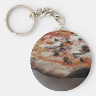 Original italian pizza with capers and anchovies keychain