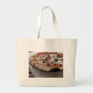 Original italian pizza with capers and anchovies large tote bag