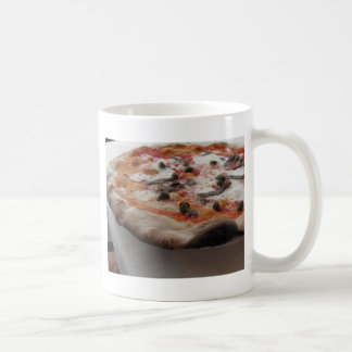 Original italian pizza with capers and anchovies classic white coffee mug