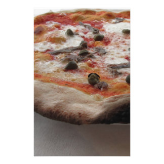 Original italian pizza with capers and anchovies stationery