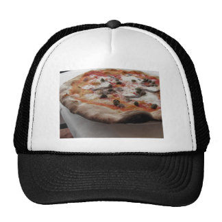 Original italian pizza with capers and anchovies trucker hat