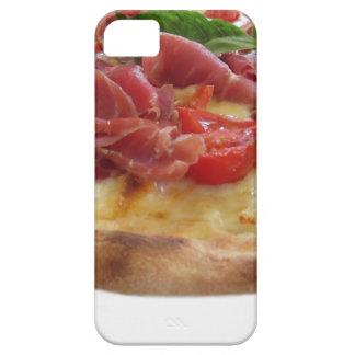 Original italian pizza with ham, tomatoes and basi iPhone SE/5/5s case