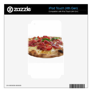 Original italian pizza with ham, tomatoes and basi iPod touch 4G decal