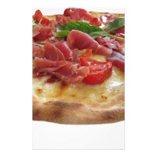 Original italian pizza with ham, tomatoes and basi stationery