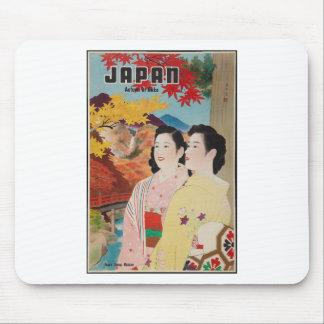 Original Japan in autumn Nikko vintage poster 50s Mouse Pad