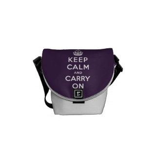 ORIGINAL KEEP CALM AND CARRY ON | PURPLE MESSENGER BAG