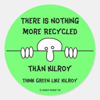 Original Kilroy Green Sticker