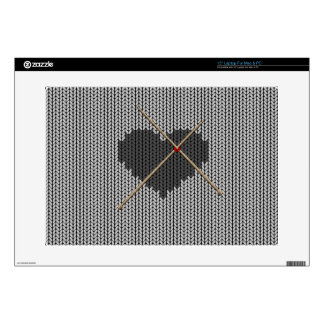 "Original Knitted Heart Design 15"" Laptop Decal"