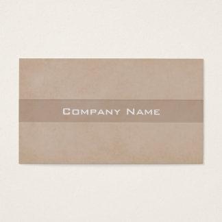 Original light chocolate colour business card