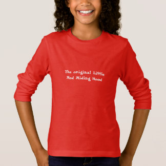 Original Little Red Riding Hood Girl's Hooded Swea T-Shirt