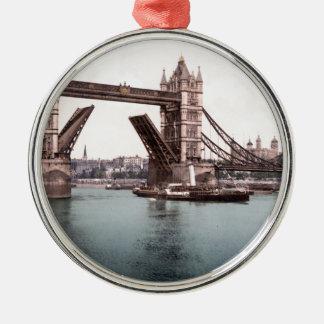 Original London TowerBridge 1900's photo Metal Ornament