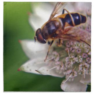 Original macra de la flor del abejón servilletas
