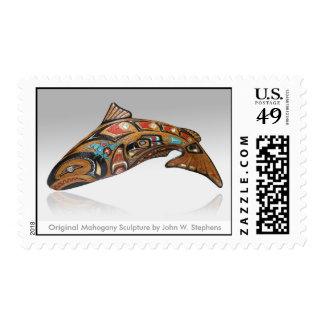 Original Mahogany Sculpture by John W. Stephens Postage Stamp