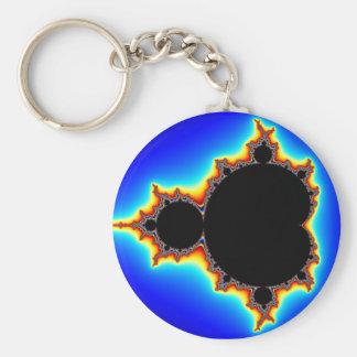 Original Mandelbrot Set 03 - Fractal Basic Round Button Keychain