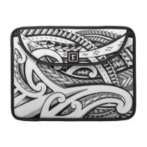 Original Maori tribal tattoo design with shading Sleeve For MacBook Pro