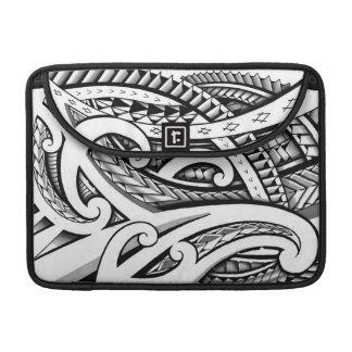 Original Maori tribal tattoo design with shading Sleeve For MacBook Pro