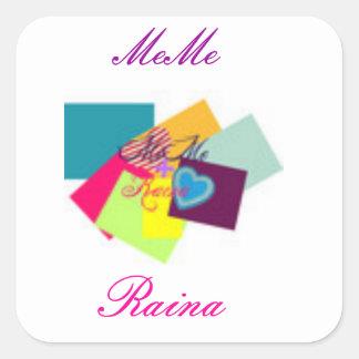 Original MeMe+Raina Logo Sticker