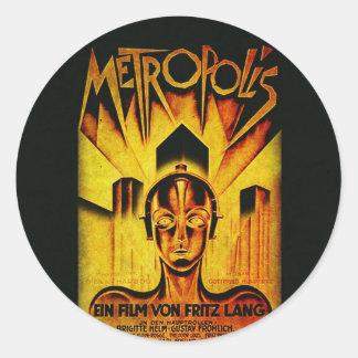 Original METROPOLIS RESTORED Adaptation Classic Round Sticker