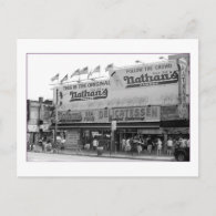 Original Nathan's Hot Dogs (Coney Is., NY) Post Card