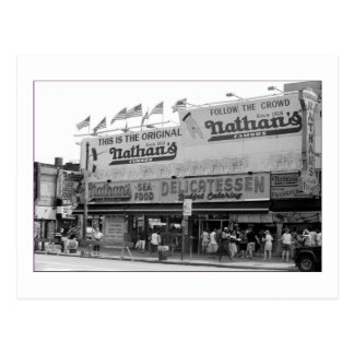 Original Nathan's Hot Dogs (Coney Is., NY) Postcard