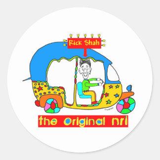 Original NRI- RickShah Classic Round Sticker