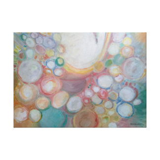 Original Oil Painting Bubbles Winona Garmhausen Canvas Print