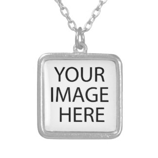 Original oil painting silver plated necklace