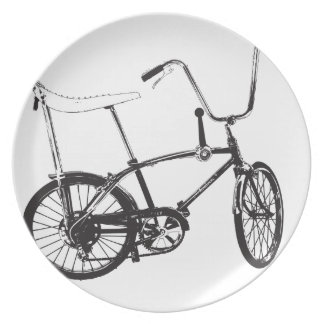 Original old School bike Melamine Plate