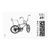 old school, urban, bike, vintage, graffiti, funny, biking, cool, street, stamp, retro, pimp, banana, style, hip-hop, design, graphic art, ride, postage, Stamp with custom graphic design
