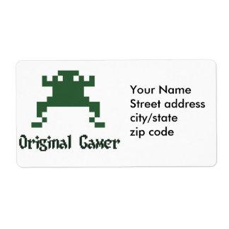 Original old school gamer label
