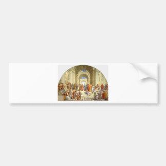 "Original paint ""The school of Athens"" by Raffaello Bumper Sticker"