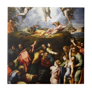 """Original paint """"the Transfiguration"""" Raffaello Ceramic Tile"""