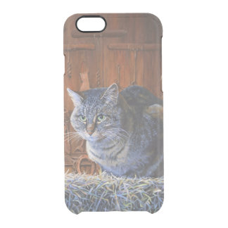 Original Painting Barn Cat iPhone 6 Deflector Clear iPhone 6/6S Case