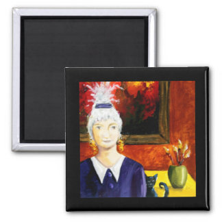 Original painting by Shelley Lampman 2 Inch Square Magnet