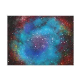 Original Painting - digital manipulation- Nebula Canvas Print
