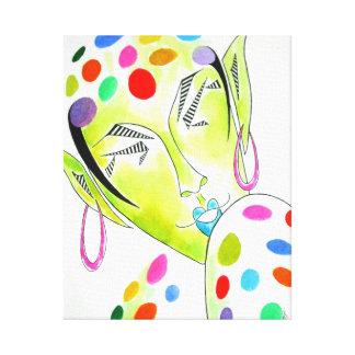 "Original Painting ""Fey"" -- Colorful Fairy/Elf Canvas Print"