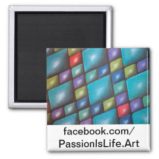 Original Painting: Harmony In Blue 2 Inch Square Magnet