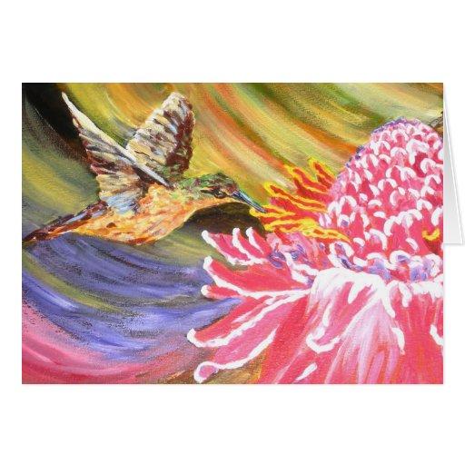 "Original Painting- ""Ho Hum"" Card"