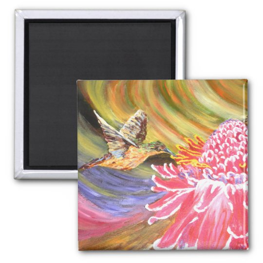 "Original Painting- ""Ho Hum"" Magnet"