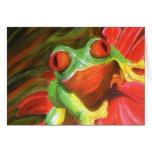"Original Painting- ""Tree Frog"" Card"