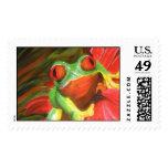 "Original Painting- ""Tree Frog"" Postage"