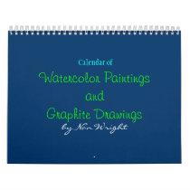 Original Paintings and Drawings Calendar