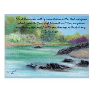 "Original Pastel, ""Swannee River in the Spring"" Postcard"