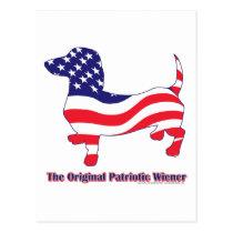 Original Patriotic Wiener/Dachshund Postcard